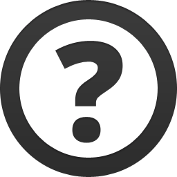 a question mark icon